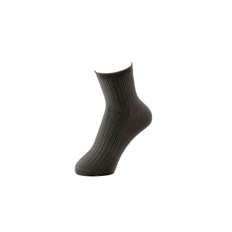 Premium 5x2 Rib Silky Cotton Short Crew Socks