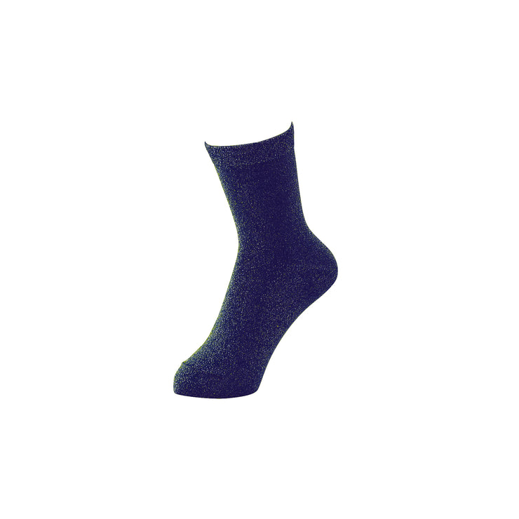 Sparkly Soft Lamé Short Crew Socks