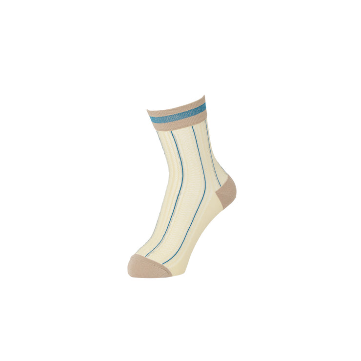 Stripe Mesh Ankle Socks