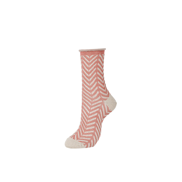 Float Herringbone Premium SAFILIN Linen Crew Socks