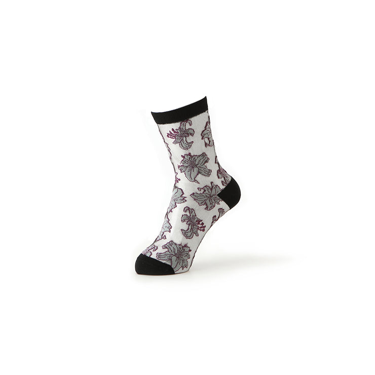 Lily Sheer Short Crew Socks