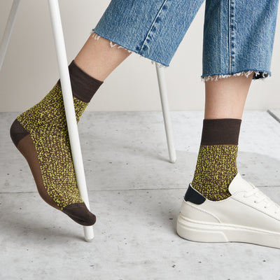 Float Glitter Cupro Short Crew Socks