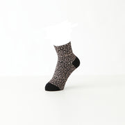 Vintage Ribbed Leopard Cotton Ankle Socks