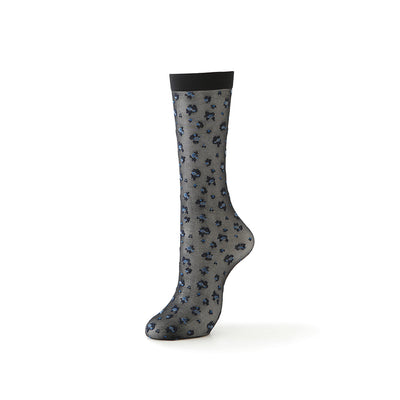 20-denier Floral Knee High Socks