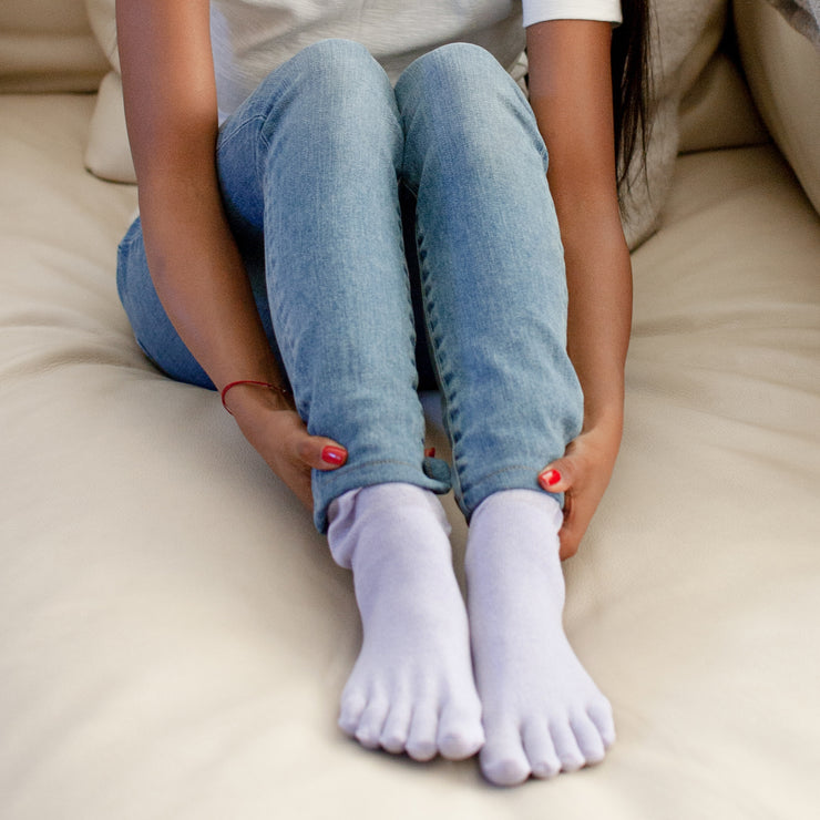 Shea Butter Cotton Toe Bed Socks
