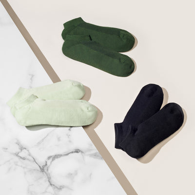 Anti-Odor Front Mesh Green Tea Cotton Sneaker Socks
