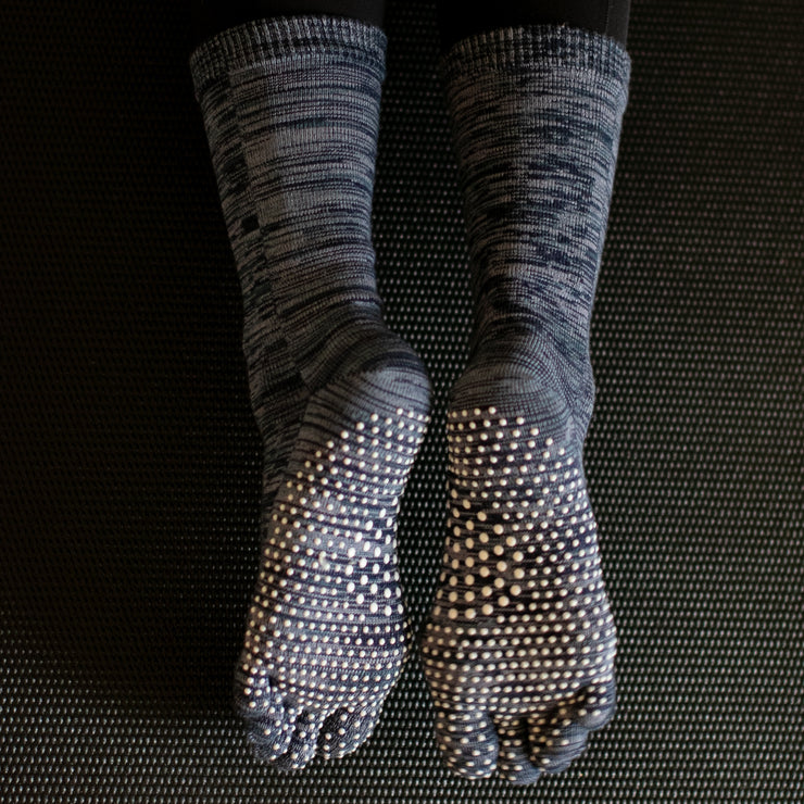 Reflexology Cotton Toe Crew Socks