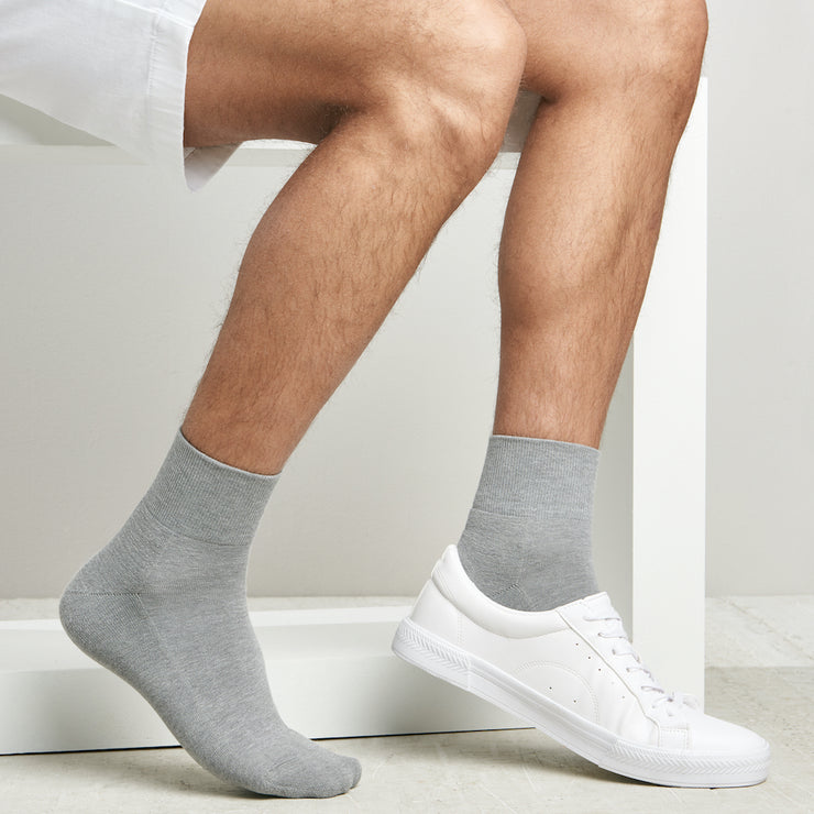 High-Standard Cotton Piles Short Crew Socks