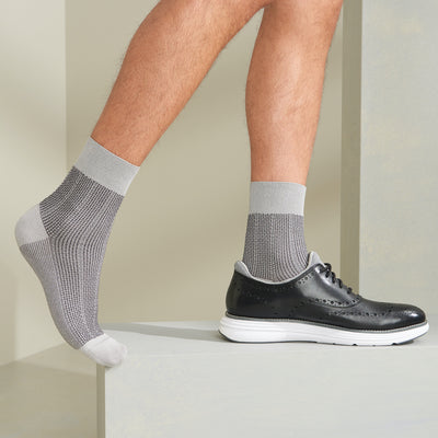 "Stripe ""Washi"" Dry Short Crew Socks"
