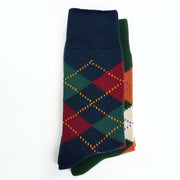 Argyle Anti-Odor Cotton Crew Socks