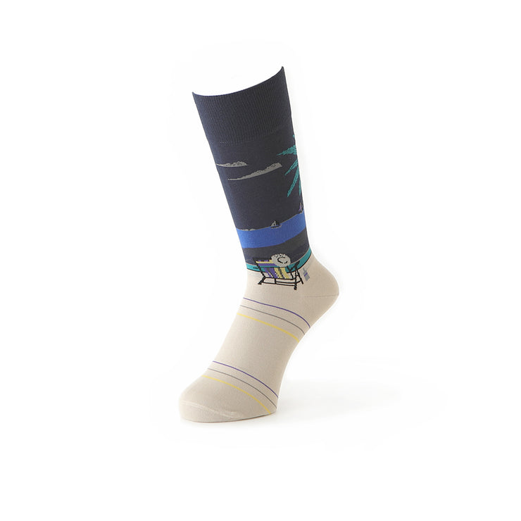 Beach Cotton Crew Socks