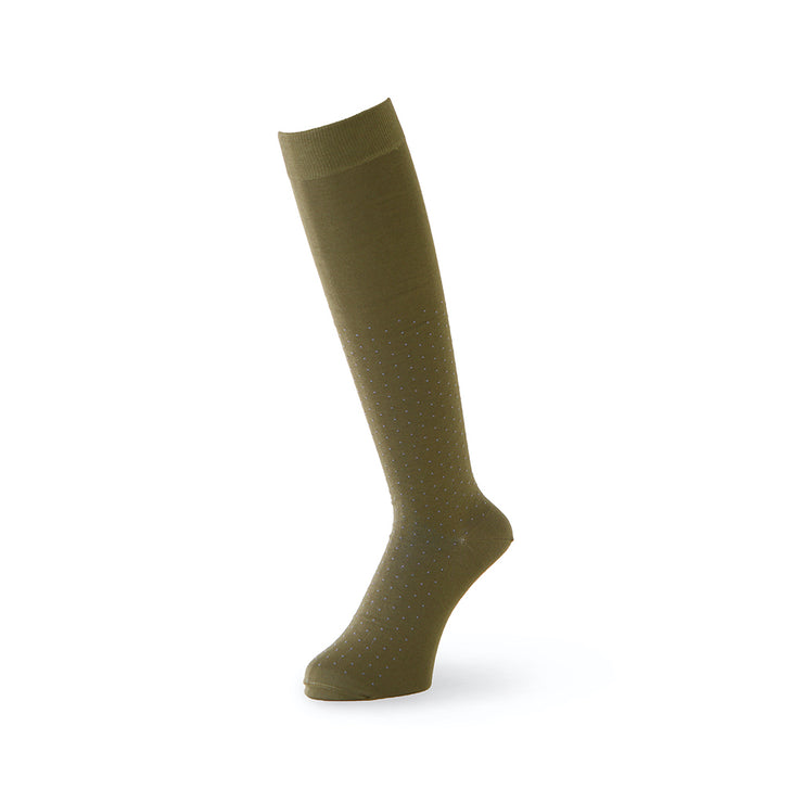 Pin Dot Cotton Knee High Socks