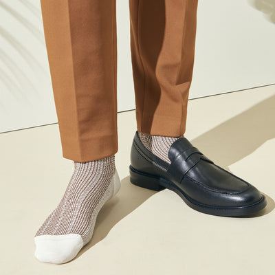 "Stripe ""Washi"" Dry Crew Socks"
