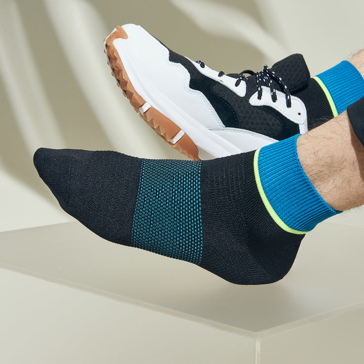 Block Color Super-Dry Short Crew Socks