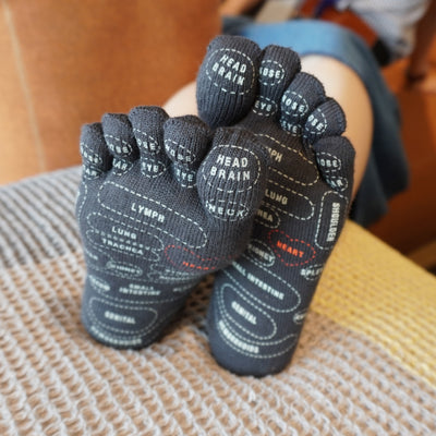 Home Reflexology Cotton Toe Socks Box