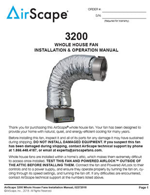 Sierra 3200 Installation and Operation Manual