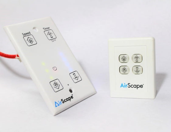 AirScape touch controller and optional remote control