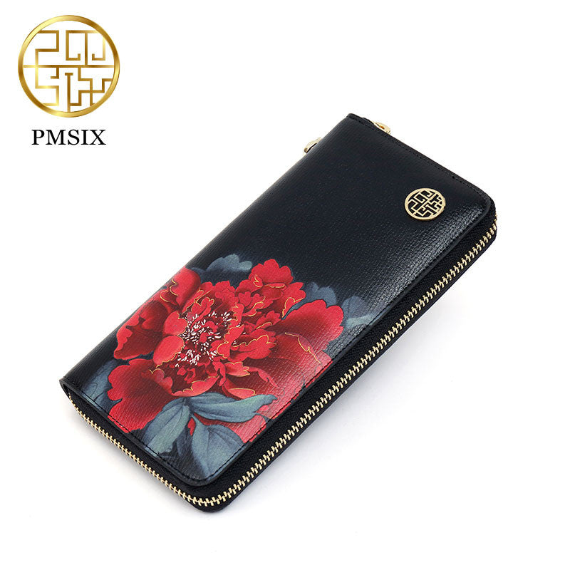 PMSIX Flowery Leather Wallet