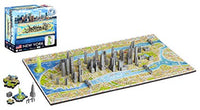 4D Cityscape Mini Puzzle (193 Piece), New York, London, Paris