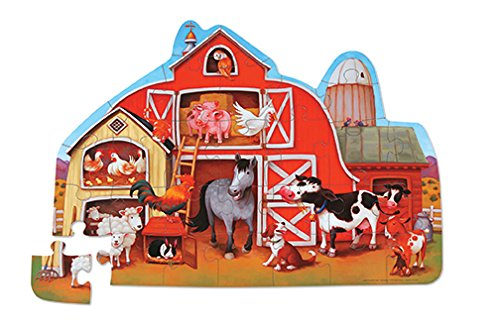 Crocodile Creek Barnyard Shaped Floor Puzzle - 30 Piece