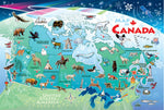 Cobble Hill Map of Canada Floor Puzzle