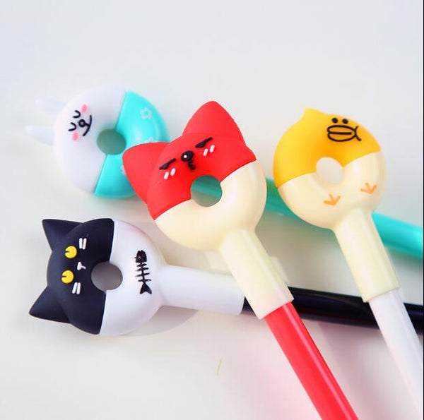 Cartoon Round Ears Gel Pen Ink Pen