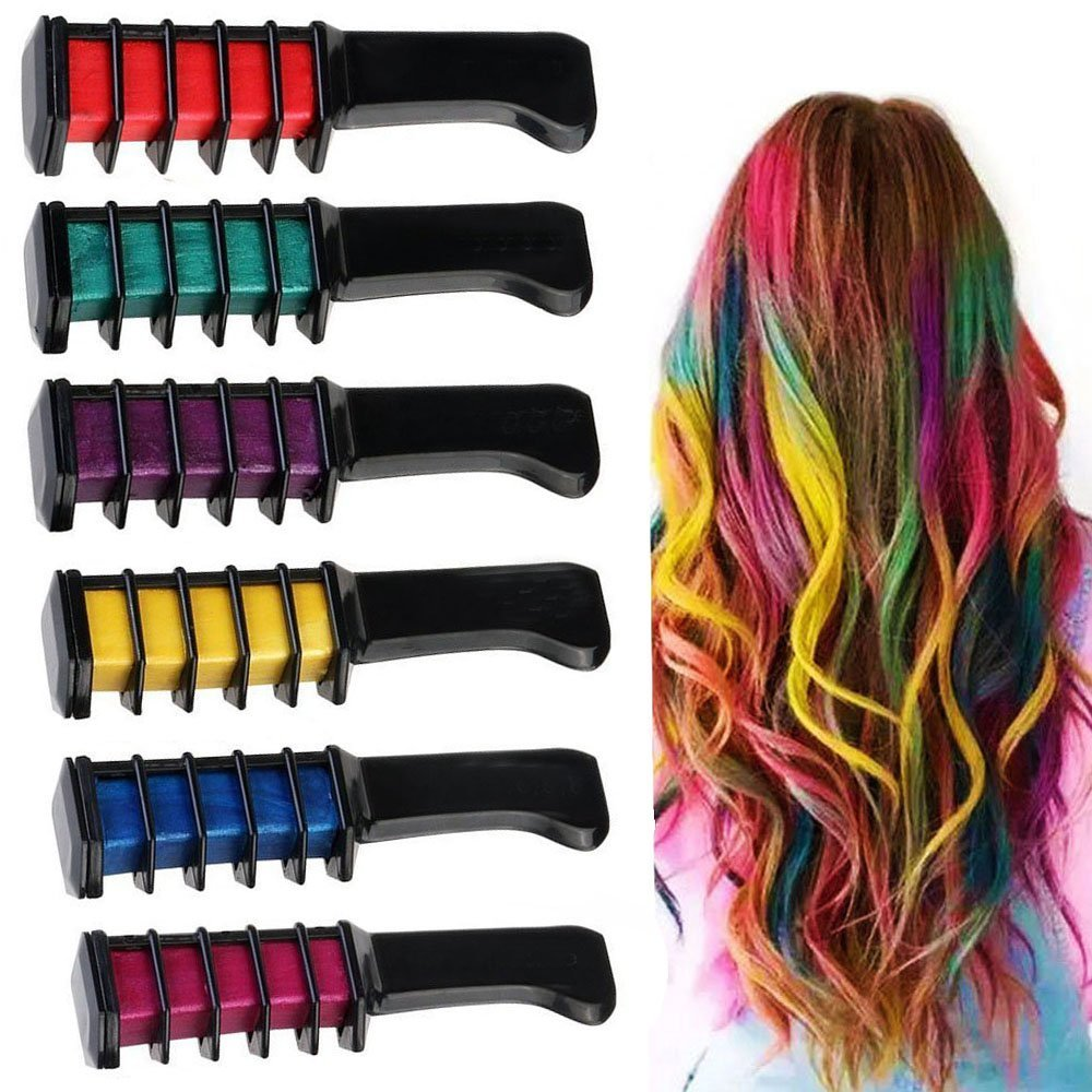 Hair chalk is great for creating a lighter color in your hair.