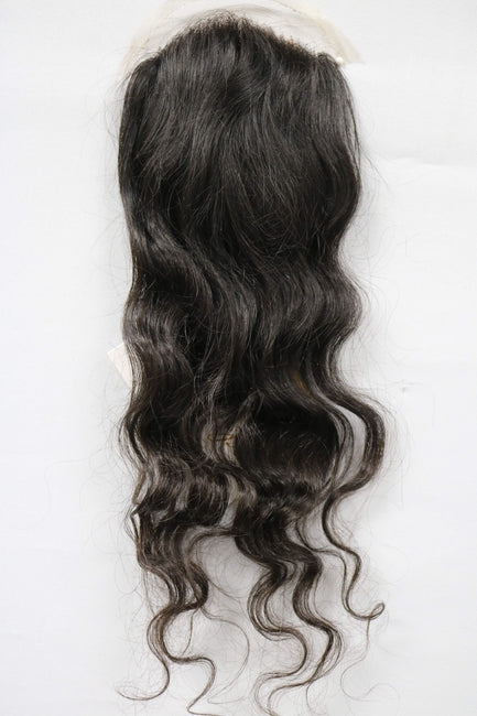 Zig Zag French Full Lace Closure - Wavy