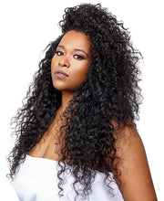 The Sapphire Curl is organically steam permed to perfection. This hair can be straightened, but over time the curl will loosen with heat.  Made of 100% Indian Remy hair and sold in 3oz bundles.