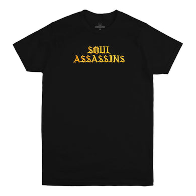 SOUL ASSASSINS OLD ENGLISH TEE (BLACK)