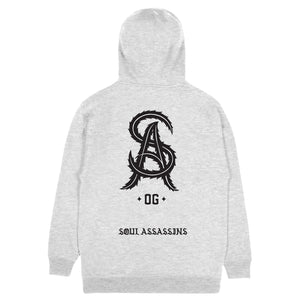 SOUL ASSASSINS SA OG HOODIE (HEATHER GREY)