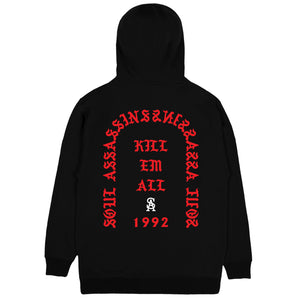 SOUL ASSASSINS KILL EM ALL CLASSIC HOODIE (BLACK)