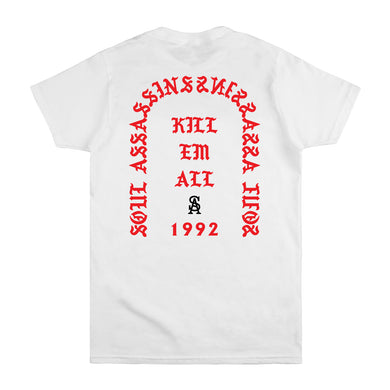 SOUL ASSASSINS KILL EM ALL CLASSIC TEE (WHITE)