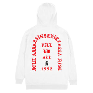 SOUL ASSASSINS KILL EM ALL CLASSIC HOODIE (WHITE)