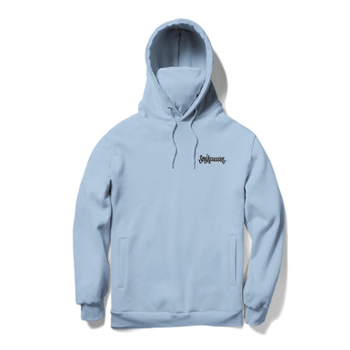 SOUL ASSASSINS SCRIPT MASKED HOODIE (LIGHT BLUE)
