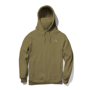 SOUL ASSASSINS OLD ENGLISH MASKED HOODIE (OLIVE)