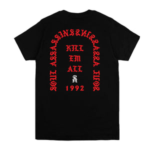 SOUL ASSASSINS KILL EM ALL CLASSIC TEE (BLACK)