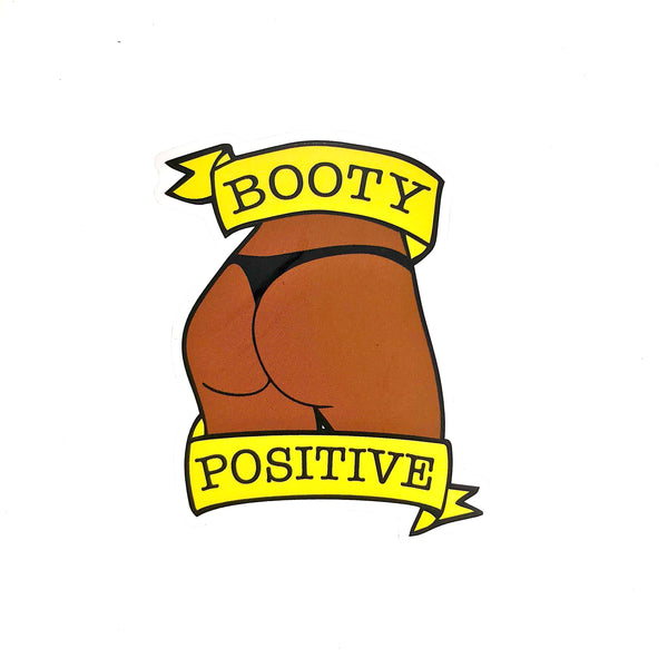 Booty Postitive Chocolate  Sticker