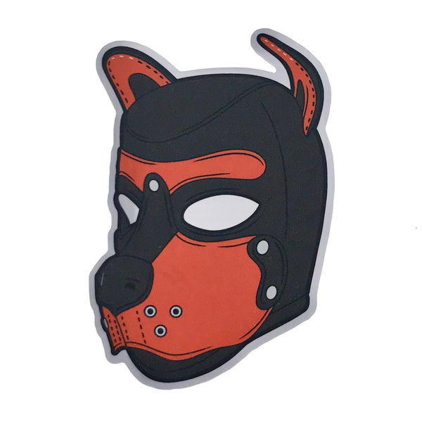 Puppy Hood - Orange - Sticker