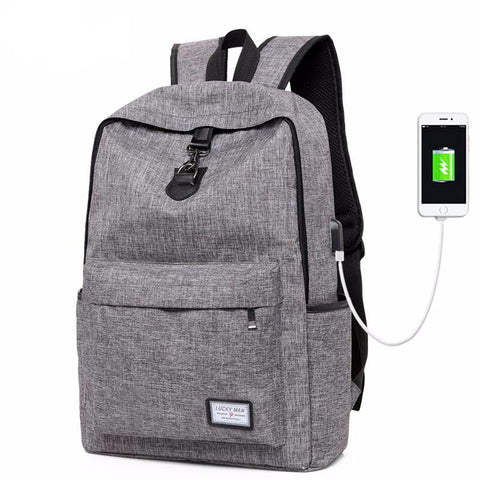 CASUAL BACKPACK WITH USB CHARGING PORT