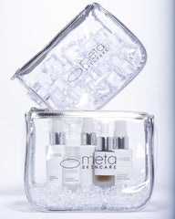 Travel Pouches for Meta Skincare's Clear Age Set for Acneic and Aging Skin
