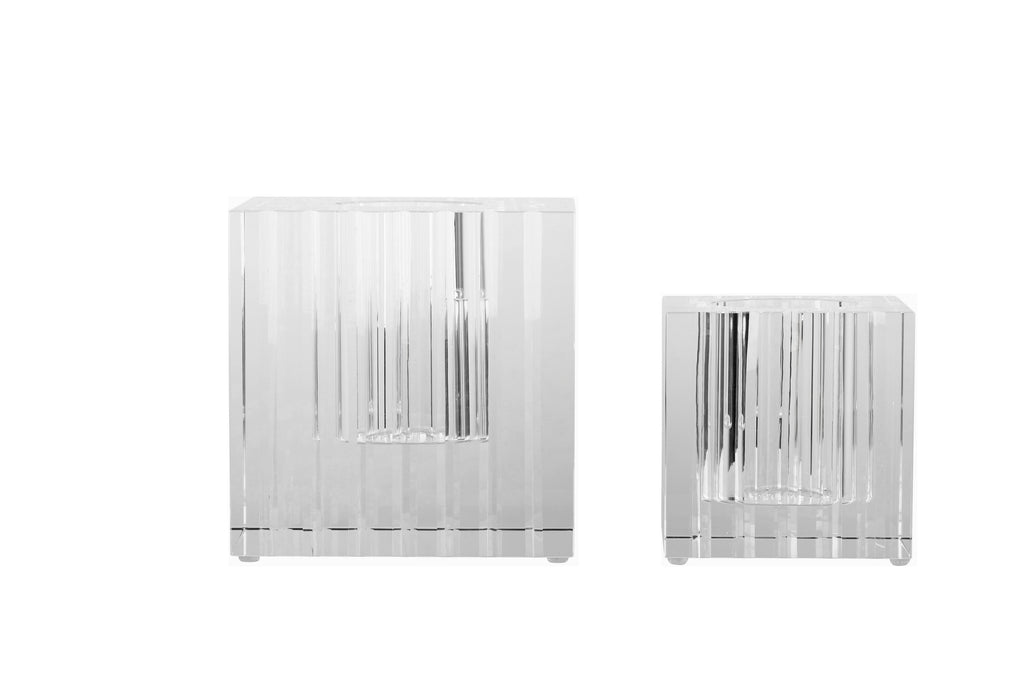 Vertical Cut Cube Vase