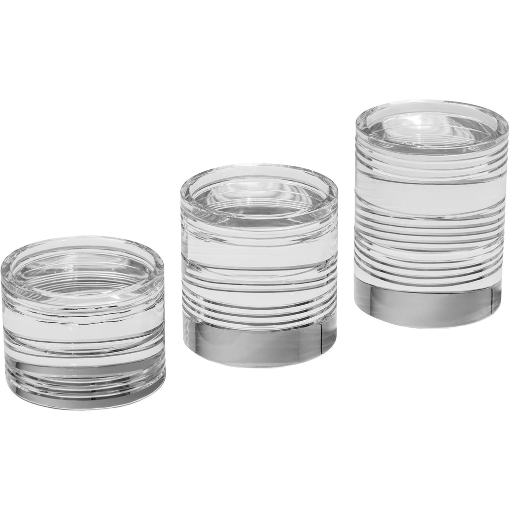Bentley Round Pillar Candleholder Set