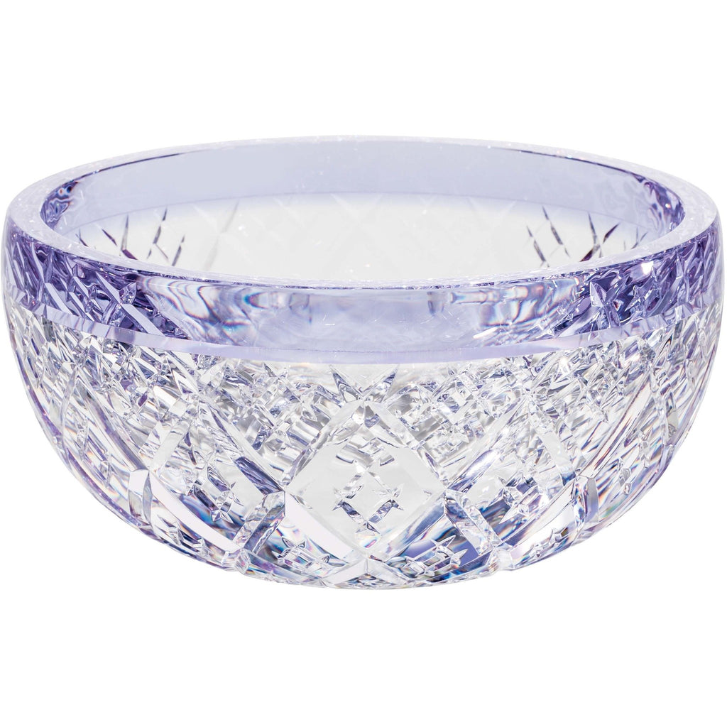 Diamond Etched Bowl with Criss-Cross Pattern
