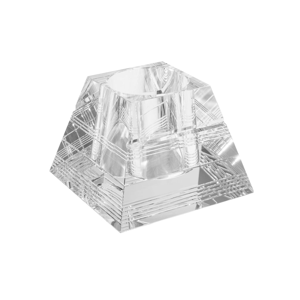 Diamond Etched Quad Vase