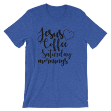 Jesus Coffee Saturday Mornings short sleeved shirt