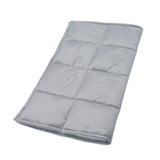 ZooVaa Kids Sensory Weighted Lap Pad Blanket for Children, 4.75lb 21x19 Minky Grey