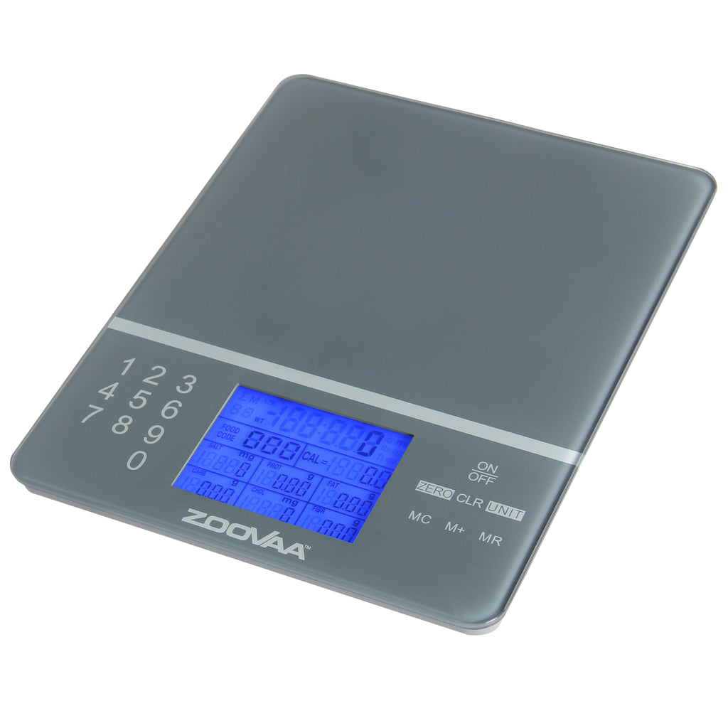 b3afa8e849a7 Digital Kitchen Food Scale for Nutrition Facts, Portion Control by ZooVaa -  10-KDS-001G