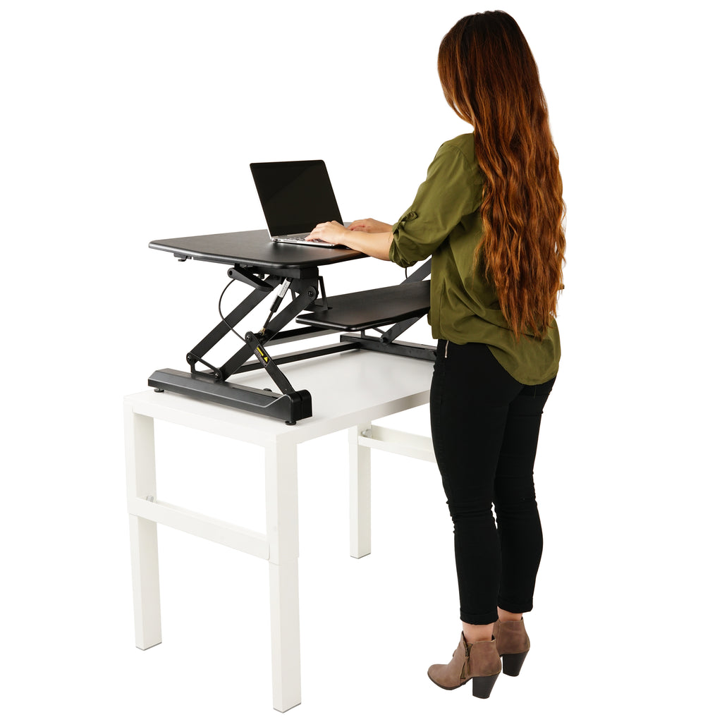 Fantastic Zoovaa Standing Desk Riser Micro Adjustable Height Sit To Stand Riser Standing Desk Workstation Download Free Architecture Designs Embacsunscenecom