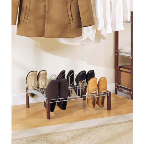 Organize It All 9 Pair Shoe Rack - Epoxy Espresso
